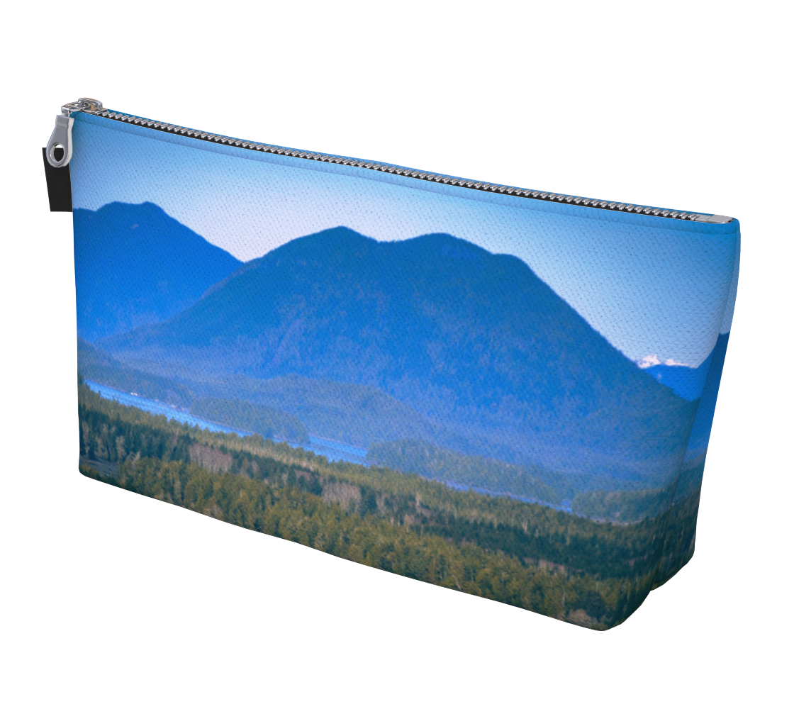 Radar Hill View Tofino Makeup Bag by Vanislegoddess.com is available in 2 sizes.