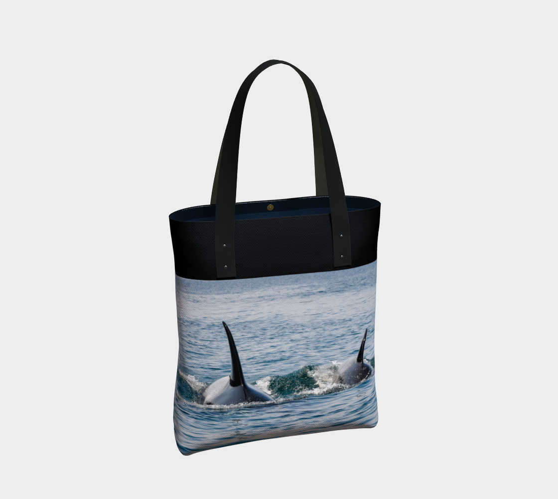 Orca By My Side Tote Bag