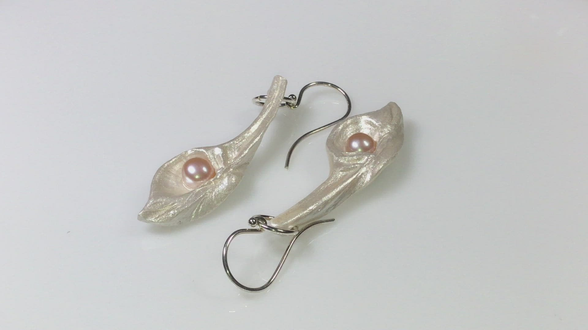 Sea Plume Island Goddess Seashell Earrings