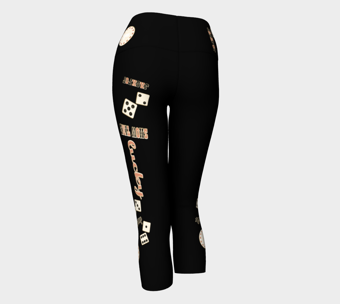 Showtime Las Vegas Yoga Capris Look amazing in my Showtime Las Vegas design!   Roll the dice, place your chips, it's showtime and the star!  Great travel wear.  By Van Isle Goddess