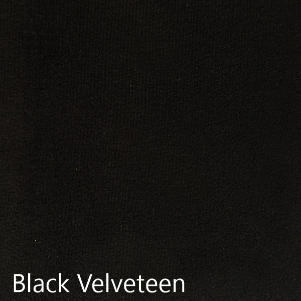 Black Velveteen fabric selection