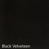 Black velveteen fabric