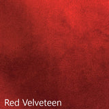 Red Velveteen fabric selection
