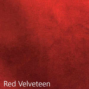 red velveteen fabric
