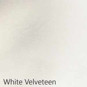 White velveteen fabric