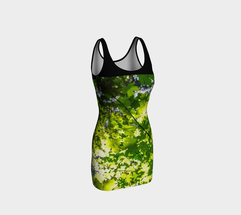Canopy of Leaves Body Contour Dress by Roxy Hurtubise Front