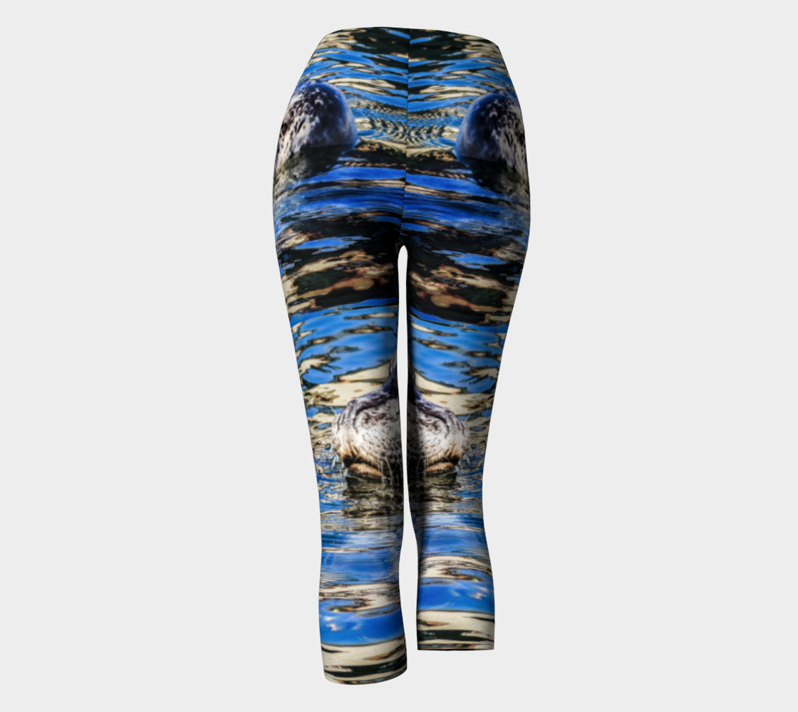Seal Of Blue Capris by Roxy Hurtubise back