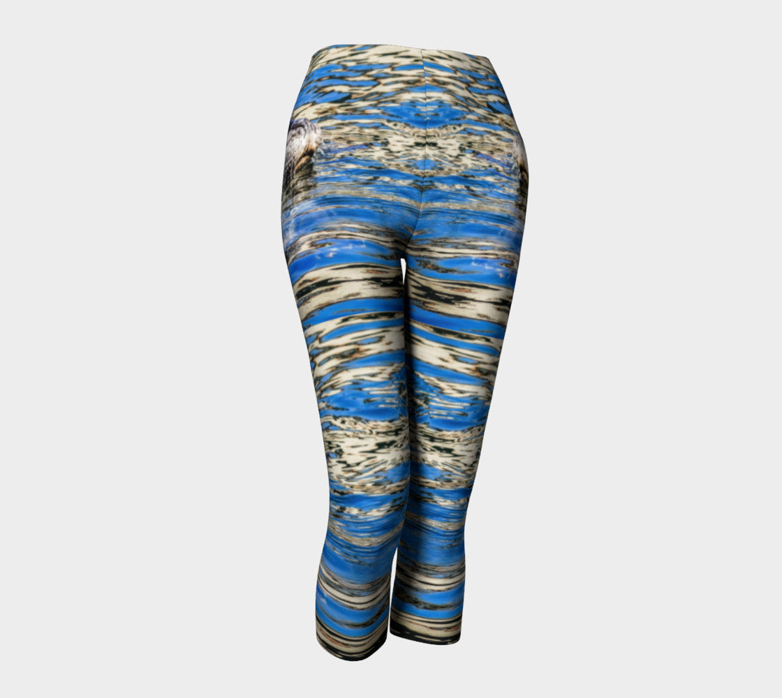 Seal Of Blue Capris by Roxy Hurtubise front