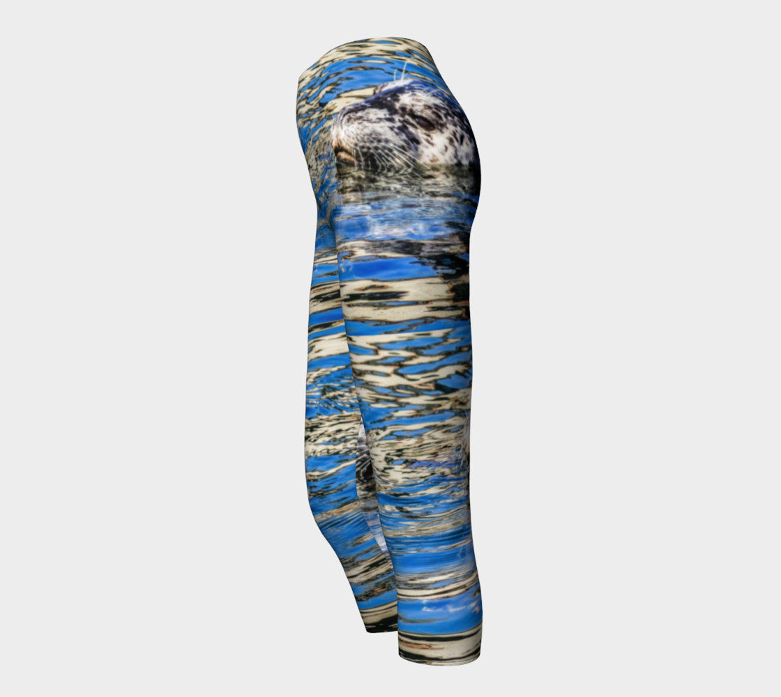 Seal Of Blue Capris by Roxy Hurtubise side