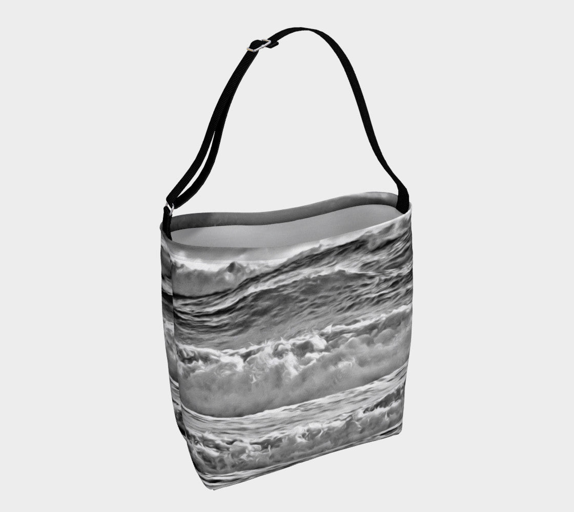 Catch the Wave  Day Tote  Everyday Day Tote for Everything!  Van Isle Goddess ultimate tote bag!   Adjustable strap for comfort, the tote is made from soft and supple neoprene that stretches to fit whatever you can put in it!    Vibrant artwork that will never fade with washing.  Catch the Wave  Artwork by  Roxy Hurtubise