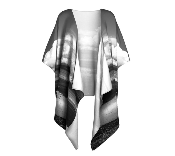 Parksville Beach Draped Kimono by Van Isle Goddess of Vancouver Island
