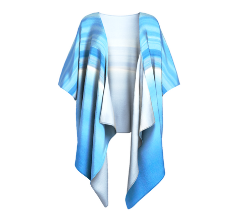 Ocean Blue Draped Kimono by Van Isle Goddess of Vancouver Island