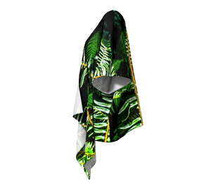 Rainforest Ferns Draped Kimono Leftside