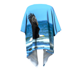 Fly Like An Eagle Draped Kimono Back
