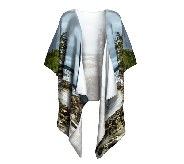 McKenzie Beach Tofino Draped Kimono by Van Isle Goddess of Vancouver Island