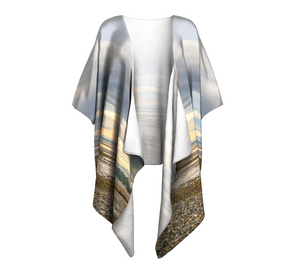 Miracle Beach Vancouver Island Draped Kimono by Van Isle Goddess