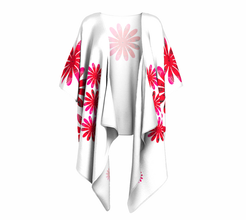 Activated In White Draped Kimono by Roxy Hurtubise Front