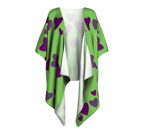 Heart Centered Draped Kimono by Roxy Hurtubise Front