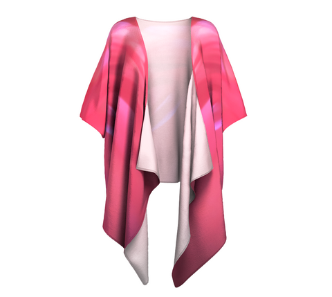 Soft Rose Draped Kimono by Roxy Hurtubise front