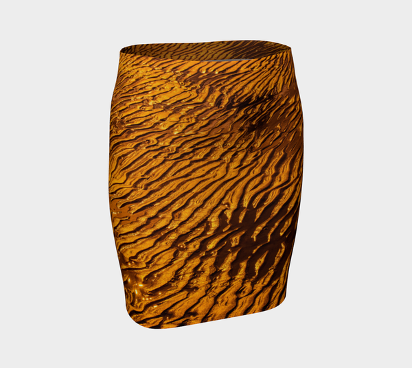 Golden Sand Fitted Skirt by Roxy Hurtubise front