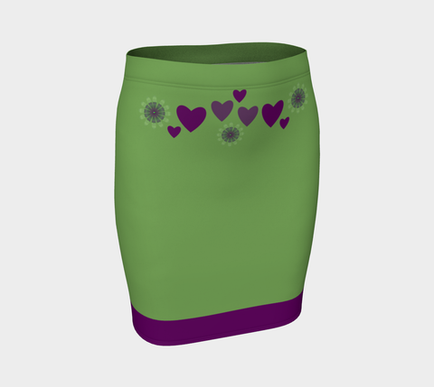 Heart Centered Fitted Skirt by Roxy Hurtubise front
