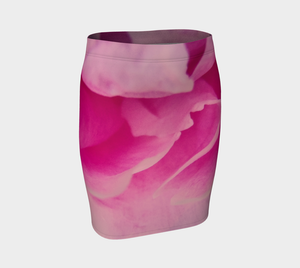 Rose Petal Kiss Fitted Skirt by Roxy Hurtubise Front