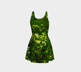 Canopy of Leaves Flare Dress by Roxy Hurtubise back