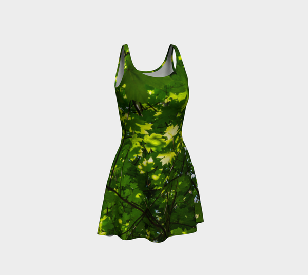 Canopy of Leaves Flare Dress by Roxy Hurtubise Front