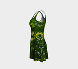 Canopy of Leaves Flare Dress by Roxy Hurtubise left side