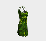 Canopy of Leaves Flare Dress by Roxy Hurtubise right side