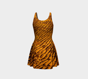 Golden Sand Flare Dress by Roxy Hurtubise back