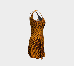 Golden Sand Flare Dress by Roxy Hurtubise right side