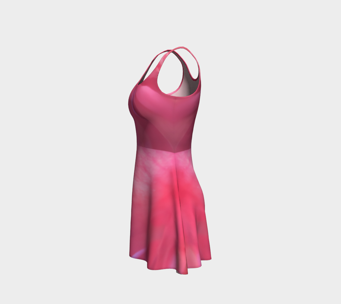 Soft Rose Flare Dress by Roxy Hurtubise left side