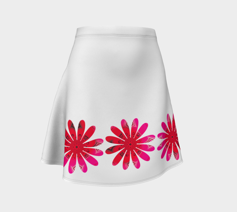 Activated In White Flare Skirt by Roxy Hurtubise Front
