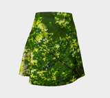 Canopy of Leaves Flare Skirt by Roxy Hurtubise Front