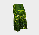 Canopy of Leaves Flare Skirt by Roxy Hurtubise Left Side
