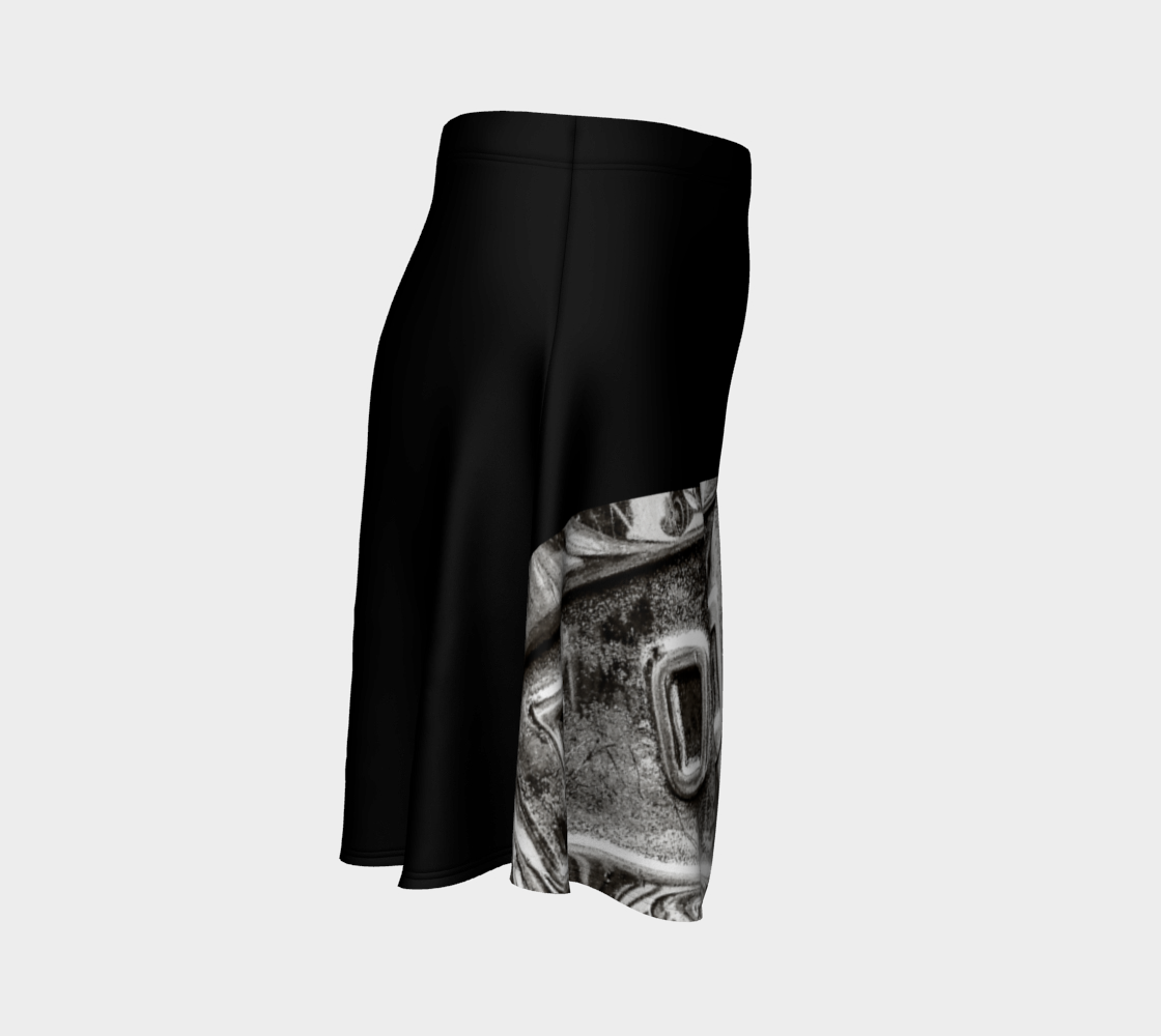 Dodge Girl Flare Skirt by Roxy Hurtubise Right Side