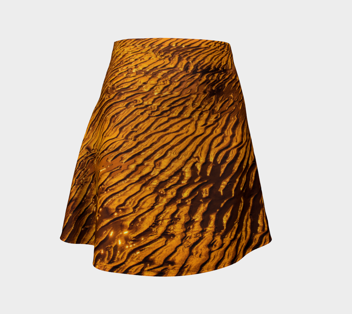 Golden Sand Flare Skirt by Roxy Hurtubise Front