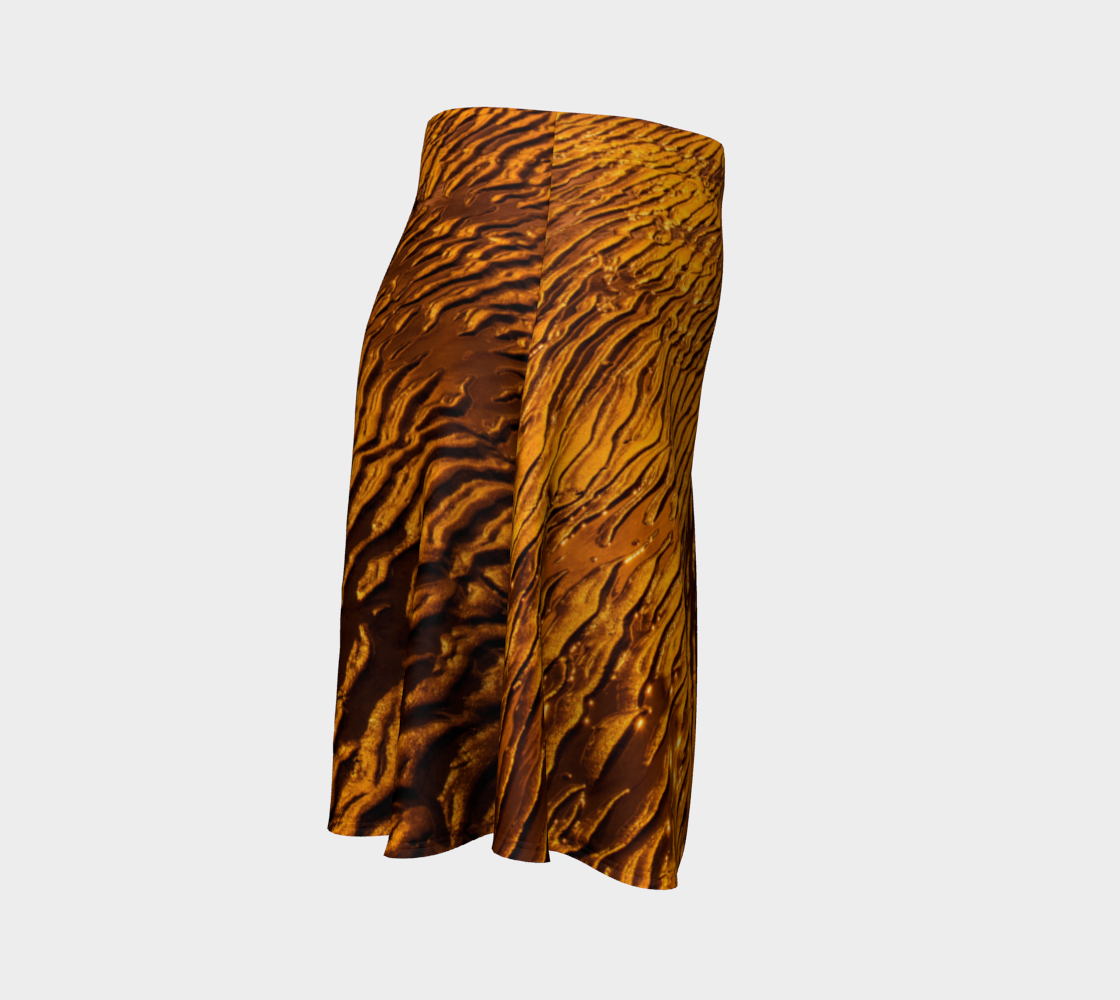 Golden Sand Flare Skirt by Roxy Hurtubise Right Side