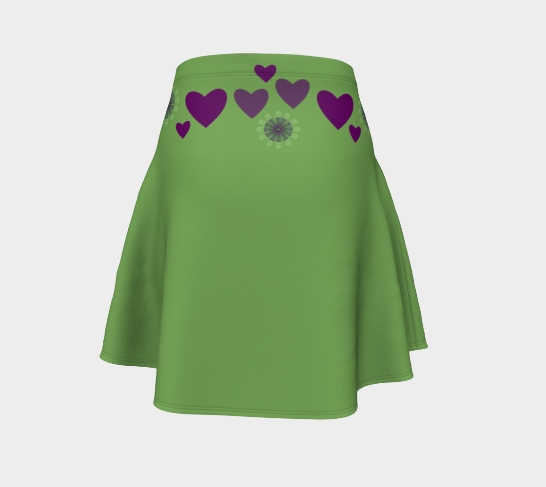 Heart Centered Flare Skirt by Roxy Hurtubise Back