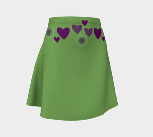 Heart Centered Flare Skirt by Roxy Hurtubise Front