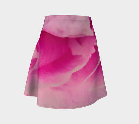 Rose Petal Kiss Flare Skirt by Roxy Hurtubise Front