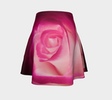 Illuminated Rose Flare Skirt by Roxy Hurtubise Back
