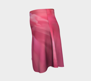 Soft Rose Flare Skirt by Roxy Hurtubise Left Side