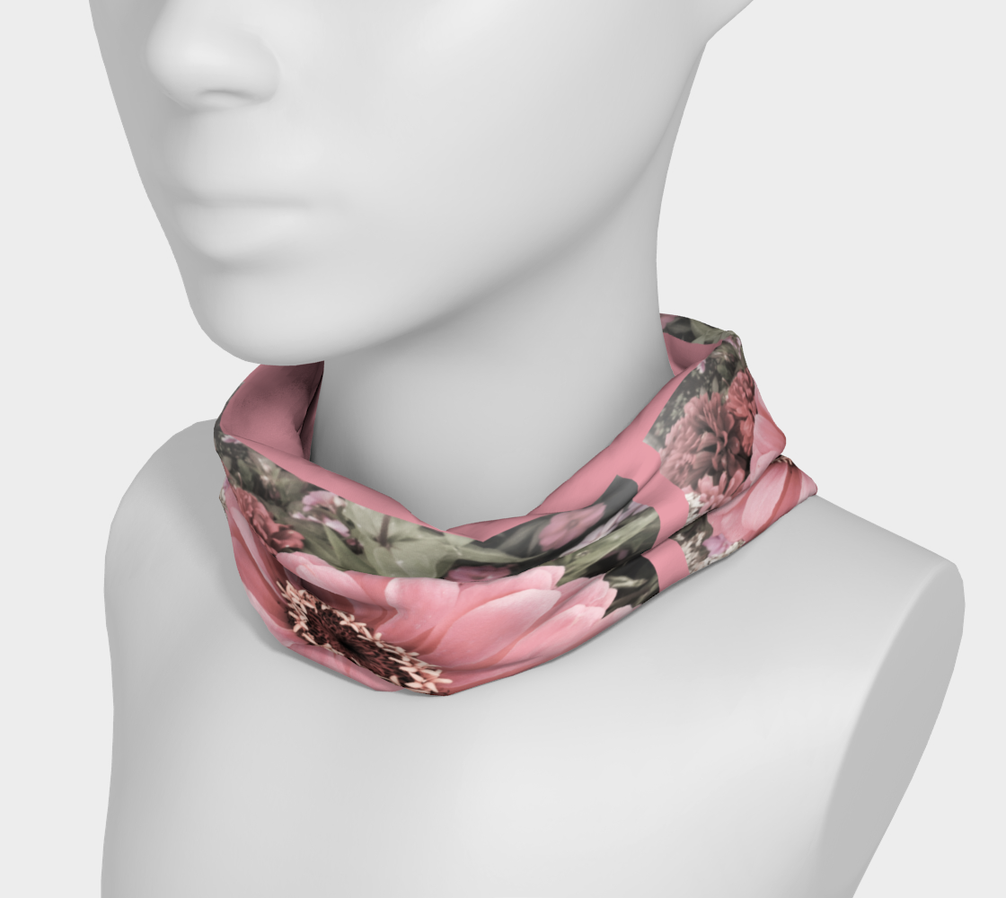 Floral Delight Headband worn around the neck by Roxy Hurtubise VanIsleGoddess.Com