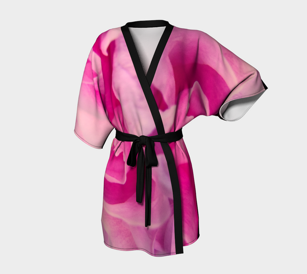 Rose Petal Kiss Kimono Robe by Van Isle Goddess of Vancouver Island