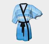 Ocean Blue Kimono Robe by Van Isle Goddess of Vancouver Island