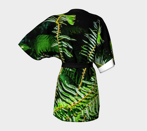 Rainforest Ferns Kimono Robe Back