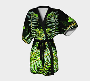Rainforest Ferns Kimono Robe by Van Isle Goddess of Vancouver Island
