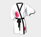 Activated In White Kimono Robe by Roxy Hurtubise Front